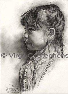 pencil drawings drawing native american indian virgil western stephens apache woman sketch easy indians notevena