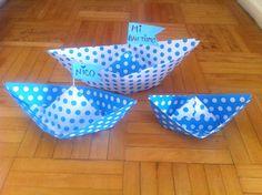 Barcos papel bautismo