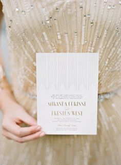 Wedding Invitations | See the Art Deco Inspired Shoot on #SMP: http://www.stylemepretty.com/2013/07/22/art-deco-shoot-diy-from-oak-and-the-owl/