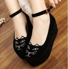 Ships+from+America  All+Asian+sizes+have+been+converted   Net+Weight:+718g  Style:+Wedges Material:+Suede  Heel:+approx.+9cm Platform:+approx.+3+cm Three+Colors:+Black, 4+sizes+for+selection:  36,+37,+38,+39(EU). EU+36+(+US+5,+AU+5+,+UK+3+) EU+37+(+US+6,+AU+6+,+UK+4+) EU+38+(+US...