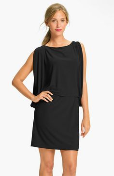 Jessica Simpson Draped Sleeve Jersey Blouson Dress | Nordstrom (what to wear to a wedding) $98