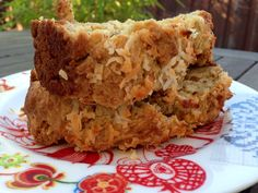 Banana Persimmon Bread with Toasted Coconut by One Happy Table