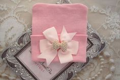 A personal favorite from my Etsy shop https://www.etsy.com/listing/523948593/pink-newborn-hospital-hat-with-a-pink
