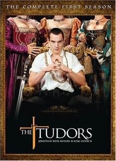 """The Tudors. 2007 - King Henry VIII of England and his 6 wives. These were definitely not """"the good old days"""". Jonathan Rhys Meyers also starred in the series """"Dracula"""", but I didn't like it as much. Jonathan Rhys Meyers, Dinastia Tudor, Los Tudor, Movies And Series, Movies And Tv Shows, Tv Series, Tudor Series, Anne Boleyn, George Thorogood"""
