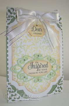 Amazing Paper Grace Filigree Leaves Background Stamp