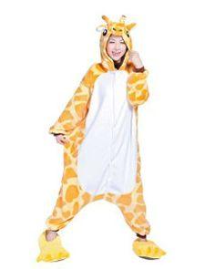Ninimour- Pajamas Anime Costume Adult Animal Cosplay (M, Giraffe)
