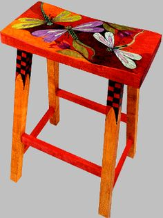 The Art of Helen Heins Peterson – Slideshow Viewer bright chair dragonflies is. - DIY projects to try - Chair Design Art Furniture, Funky Furniture, Colorful Furniture, Repurposed Furniture, Unique Furniture, Furniture Projects, Furniture Makeover, Furniture Stores, Furniture Chairs