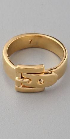 Michael Kors Jet Set Buckle Ring  Look what I found, @Blayre Widener!