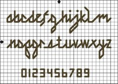 backstitch cursive alphabet