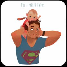 A child's first is Dad Dad Baby, Father And Baby, Character Concept, Character Art, Character Design, Family Illustration, Cute Illustration, Cartoon Sketches, Cute Wallpapers