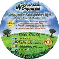 The back label for our Main Packs.