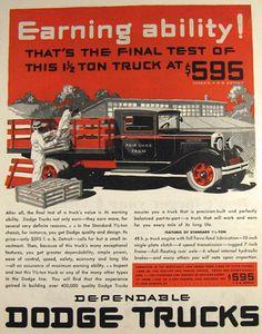 1931 Dodge Truck Ad ~ Fair Oaks Farm