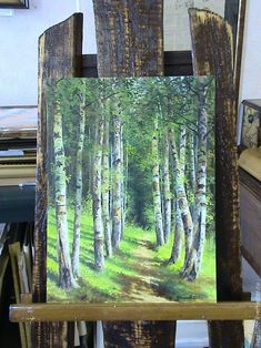"Landscape oil painting ""birch grace"",the author's work – shop online on Livemaster with shipping - 9PODZCOM"