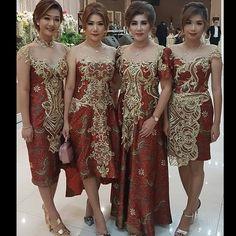 Koleksi pribadi Gaun Dress, Dress Brukat, Model Dress Batik, Batik Dress, Fabulous Dresses, Pretty Dresses, Dress Batik Kombinasi, Dress Brokat Modern, Batik Kebaya