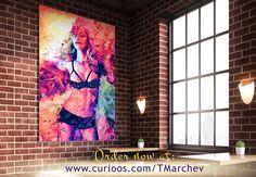 Happy International Women's Day! 👌 😊 🎨 💕🌹  Be strong with this amazing Madonna portrait :)   ☞ https://www.curioos.com/tmarchev      #IWD2017 #womensday #women #madonna #popmusic #popstar #legend #art #artwork #fanart #TMarchev #curioos #wallart #colorful #painting #abstract #digitalart #print #homedecor #artistic