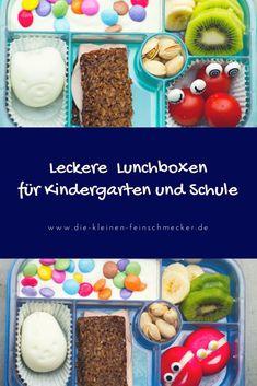 Leckere Lunchboxen für Kindergarten und Schule.