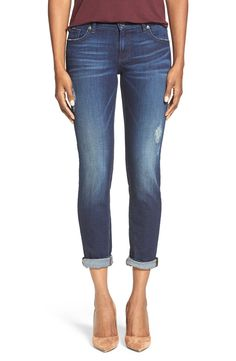 Obsessed with these KUT from the Kloth boyfriend jeans. The slight distressing gives them a super casual vibe.