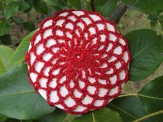 Red Ballet Snood - hair bun cover - crocheted | mountainberrystudio - Children's on ArtFire