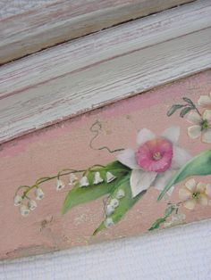 Painting on antique pediment.