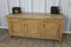 Large Victorian Pine Kitchen Sideboard Dresser - Antiques Atlas