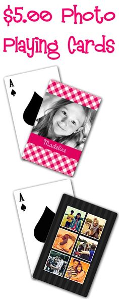 $5.00 Photo Playing Cards Gift! {+ s/h} ~ these make such fun gifts for Father's Day and Graduation!
