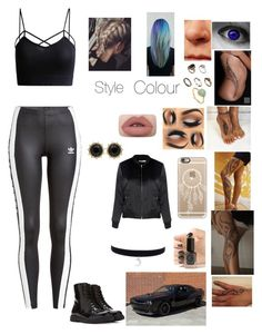 """""""Untitled #199"""" by lumsdenk on Polyvore featuring Matchless, Casetify, ASOS, Monica Vinader, Cirque Colors, adidas Originals, Glamorous, Gucci and Forever 21"""