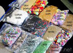 Sensory Bin Supplies