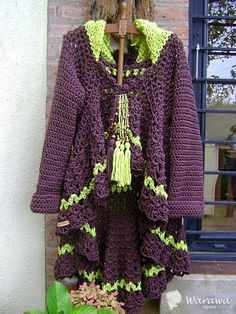 Pull Crochet, Crochet Coat, Crochet Jacket, Crochet Cardigan, Crochet Clothes, Play Clothing, Freeform Crochet, Clothes Crafts, Crochet Fashion