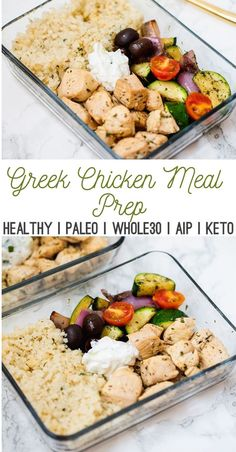 One Pan Greek Chicken Meal Prep This one-skil. - One Pan Greek Chicken Meal Prep This one-skil. - sikke One Pan Greek Chicken Meal Prep This one-skil.[One Pan Greek Chicken Meal Prep This one-skil.]One Pan Greek Chicken Meal Prep [ [ [ Healthy Meal Prep, Healthy Chicken Recipes, Healthy Drinks, Healthy Cooking, Paleo Recipes, Healthy Eating, Paleo Ideas, Cooker Recipes, Dinner Recipes