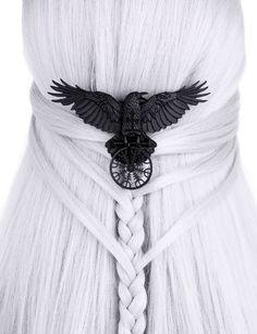 Restyle-Gothic-Raben-Haarspange-Runen-Raven-Nordic-Crow-Talisman-Hairclip-Witch