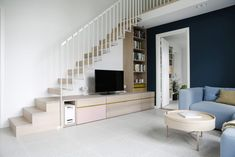 no wp-content uploads 2016 03 Loft Staircase, Staircase Storage, Stair Storage, Staircase Design, Staircases, Casa Loft, Loft House, Stairs In Living Room, House Front Design