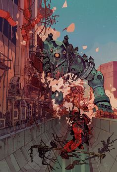 The Surreal Fantasy & Cyberpunk Illustrations Jakub Rebelka Arte Cyberpunk, Cyberpunk Tattoo, Cyberpunk 2077, Comic Kunst, Comic Art, Comic Book, Comics Illustration, Fantasy Illustration, Illustration Sketches