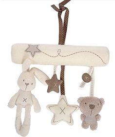 cool Hangqiao - Móvil musical de felpa para carrito de bebé, diseño de estrella, conejo y osito Mas info: http://www.comprargangas.com/producto/hangqiao-movil-musical-de-felpa-para-carrito-de-bebe-diseno-de-estrella-conejo-y-osito/