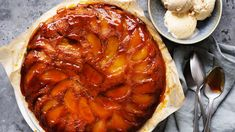 Tarte tatin meets upside-down cake