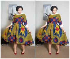 30 Ankara Plus Size Pleated Dresses For Women On The Big Side - AfroCosmopolitan African Wear, African Dress, African Fashion, South African Traditional Dresses, Ankara Dress Styles, Short Gowns, Pleated Dresses, Plus Size Fashion, Fashion Dresses