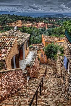 The view from Roussillon, Provence - France