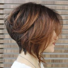 stacked+brown+bob+with+balayage                                                                                                                                                                                 More