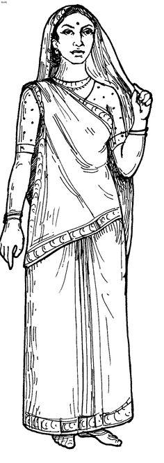 Gujarati Saree draping