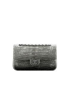 Faded Alligator Classic Flap Bag - CHANEL