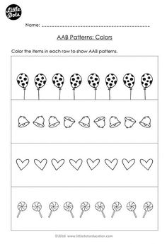Free The Very Hungry Caterpillar patterning worksheet. Practice to ...
