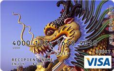 Dragon Visa Gift Card Custom Gift Cards, Buy Gift Cards, Visa Gift Card, Branded Gifts, Dragon, Dragons
