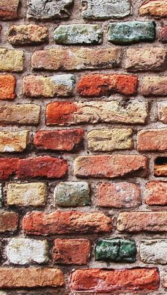 Colorful Brick Wall #iPhone #5s #Wallpaper