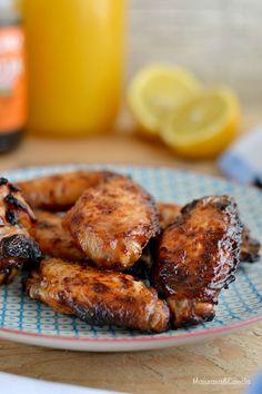 Alitas de pollo con soja, miel y limón
