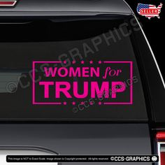 f0caac72fed WOMEN FOR TRUMP DECAL car window sticker election president sign maga  deplorable  Oracal  Diecut