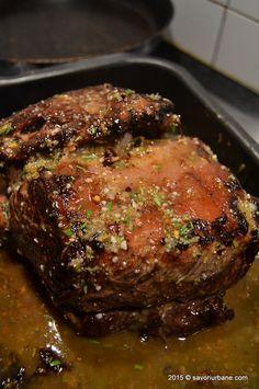 Mod de preparare antricot de vita roast beef (7) Roast Beef, Finger Foods, Beef Recipes, Main Dishes, Steak, Pork, Food And Drink, Meals, Meal Ideas