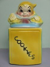 Vintage American Bisque Jack In The Box Cookie Jar