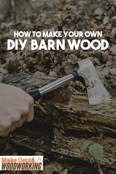 Barn wood is a great choice for decorating the interior of your house. However, the cost of barn wood is too high. Nevertheless, making barn wood can be very easy and you can use cheaper Outdoor Wood Projects, Wood Projects That Sell, Barn Wood Projects, Woodworking Projects That Sell, Woodworking Books, Woodworking Ideas, Make Your Own, Make It Yourself, How To Make