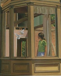 artnet Galleries: Bay Window by Alexander Farnham from Jim's of Lambertville Window Panes, Bay Window, People In Space, Day Lewis, See The Sun, Through The Window, Paintings For Sale, Windows And Doors, Gates