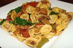 Lili popotte: Pâtes à la saucisse et aux tomates séchées