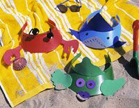 Fun Sun Visors, June is Beach Month in our Classroom! So going to do these!!